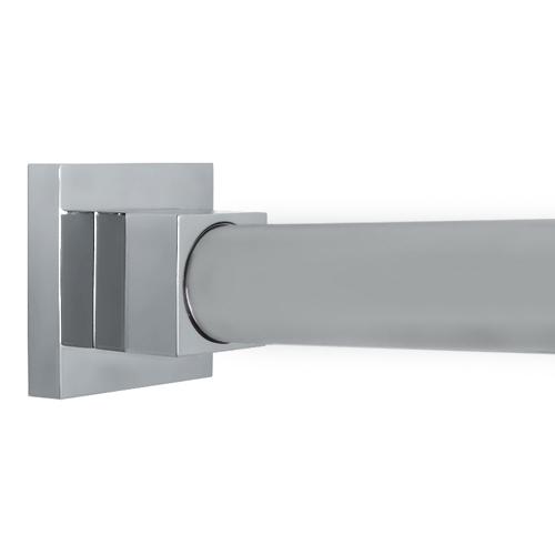 Square Contemporary Polished Chrome Shower Rod