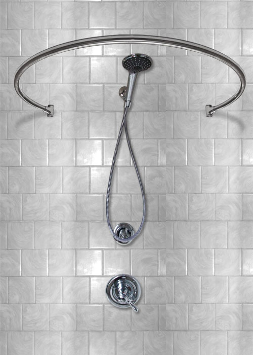 34 Wall Mount Circular - Shower Curtain Rod