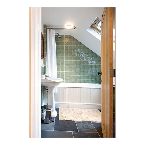 Sloped Angled Ceiling Shower Rod