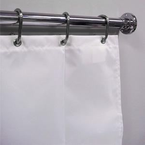 54 wide x 84 long hd white fire retardant shower curtain