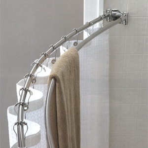 Double Curved Shower Rod