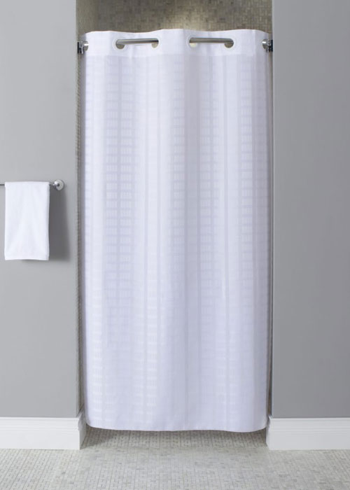 Focus Shower Curtain Stall Litchfield White Detail
