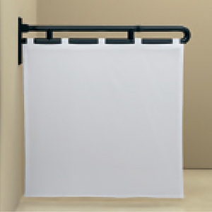 Protection Curtain Rod W Shower Curtain